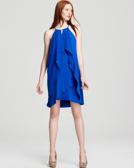 Cynthia Steffe Ruffle Dress Dionna in Blue (electric blue) - Lyst