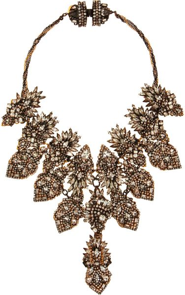 Erickson Beamon Crystal Bette Davis Eyes Bib Necklace in White