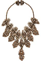 Erickson Beamon Crystal Bette Davis Eyes Bib Necklace in White - Lyst