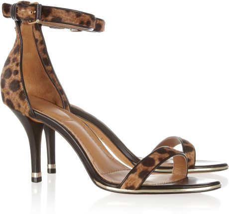 Givenchy Animalprint Calf Hair Sandals in Animal - Lyst