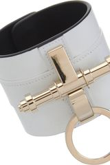 Givenchy Leather Obsedia Large Cuff in White - Lyst