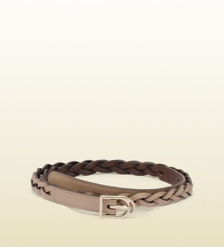 Gucci Braided Belt with Spur Buckle in Brown (beige) - Lyst