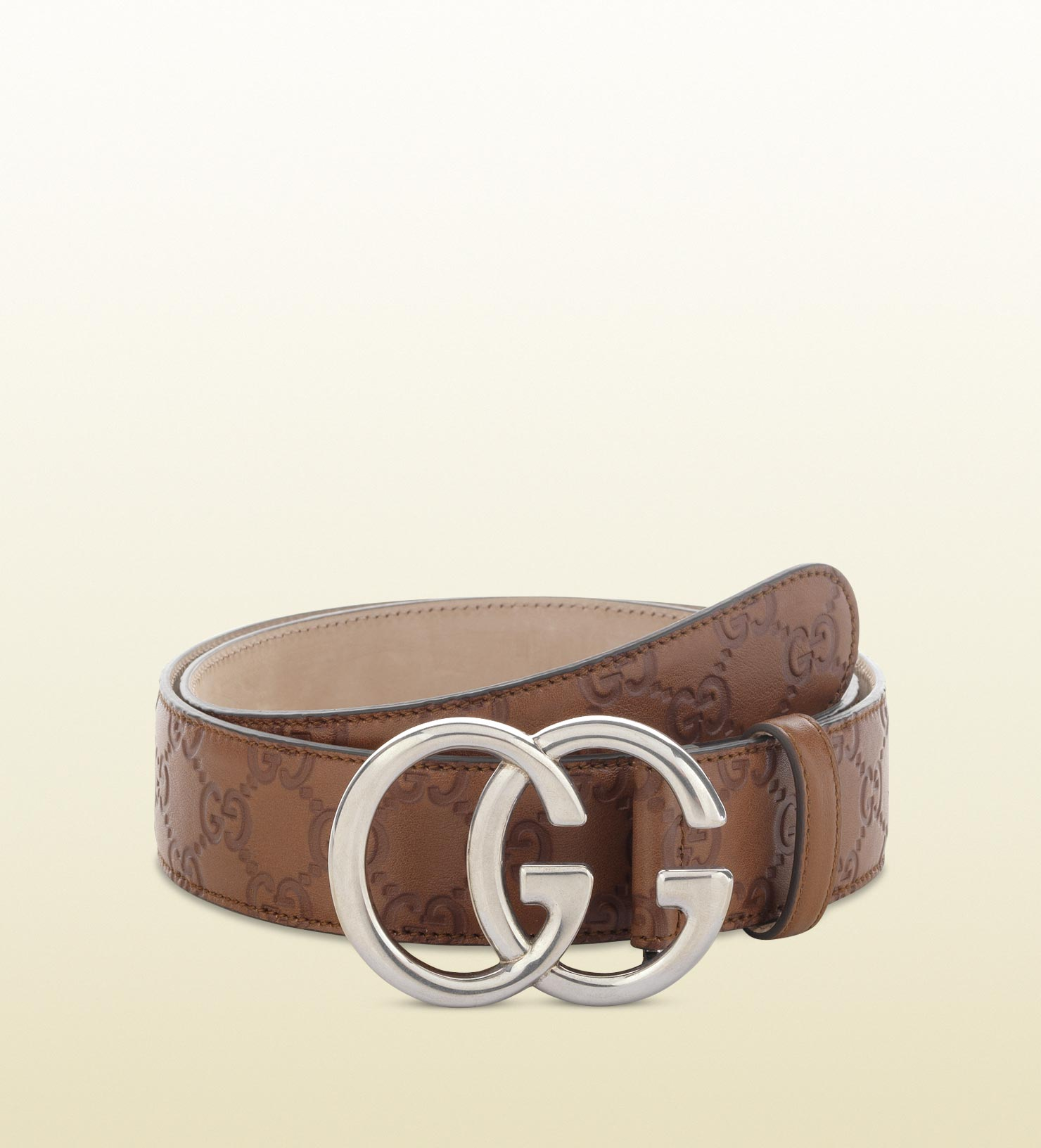 6ca5405368e Lyst - Gucci Belt With Double G Buckle in Brown for Men