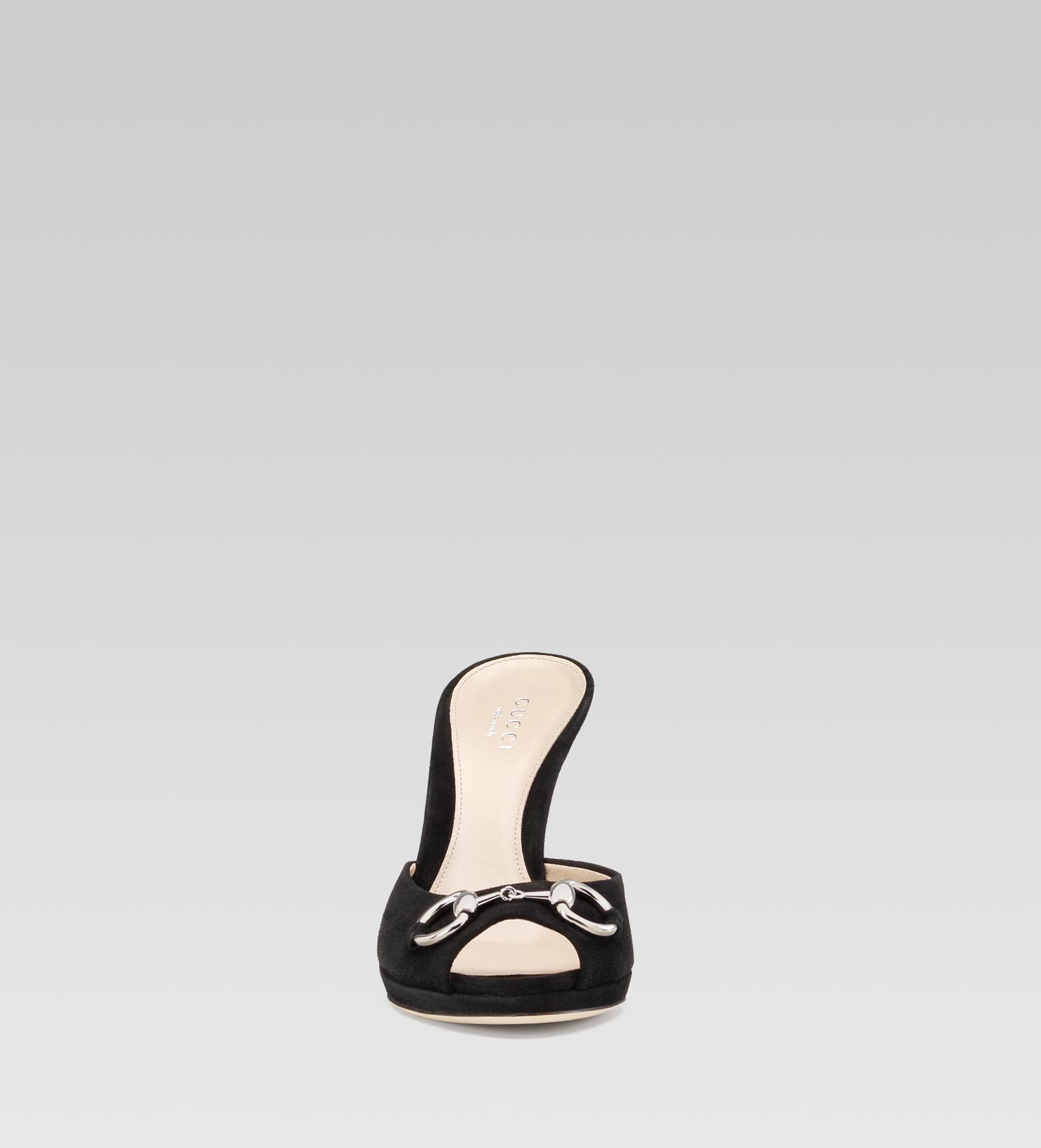 1308fa6eac0 Gucci New Hollywood Mid Heel Platform Slide with Horsebit Detail in ...
