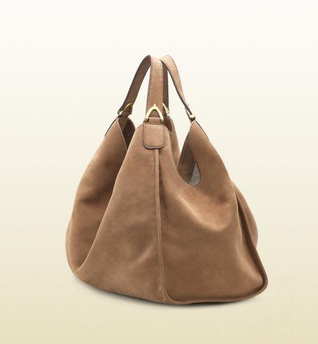 Gucci Soft Stirrup Nubuck Suede Shoulder Bag 116