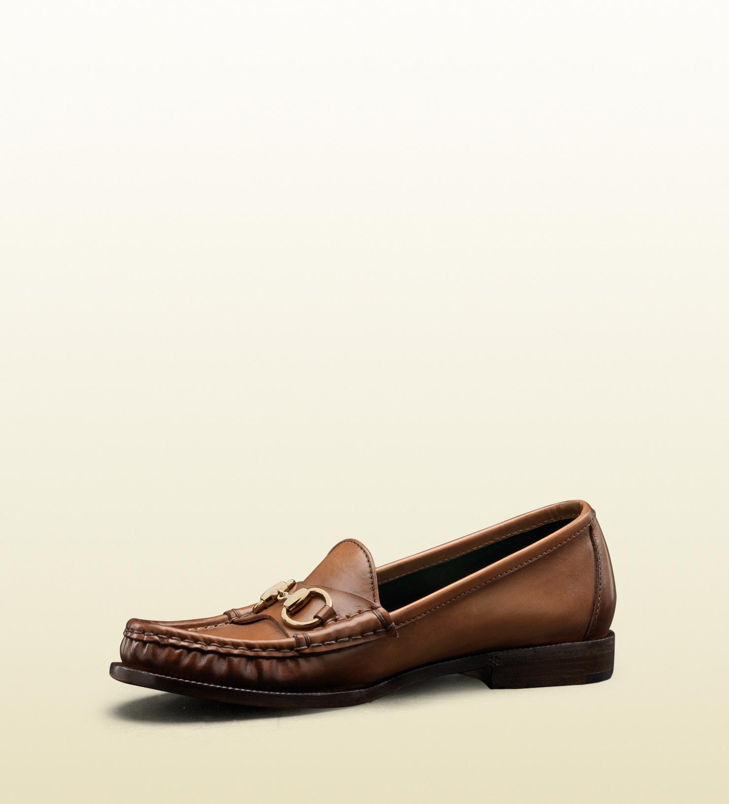 dc58c22508d Lyst - Gucci Horsebit Moccasin in Winter Rose Hand Shaded Leather in ...
