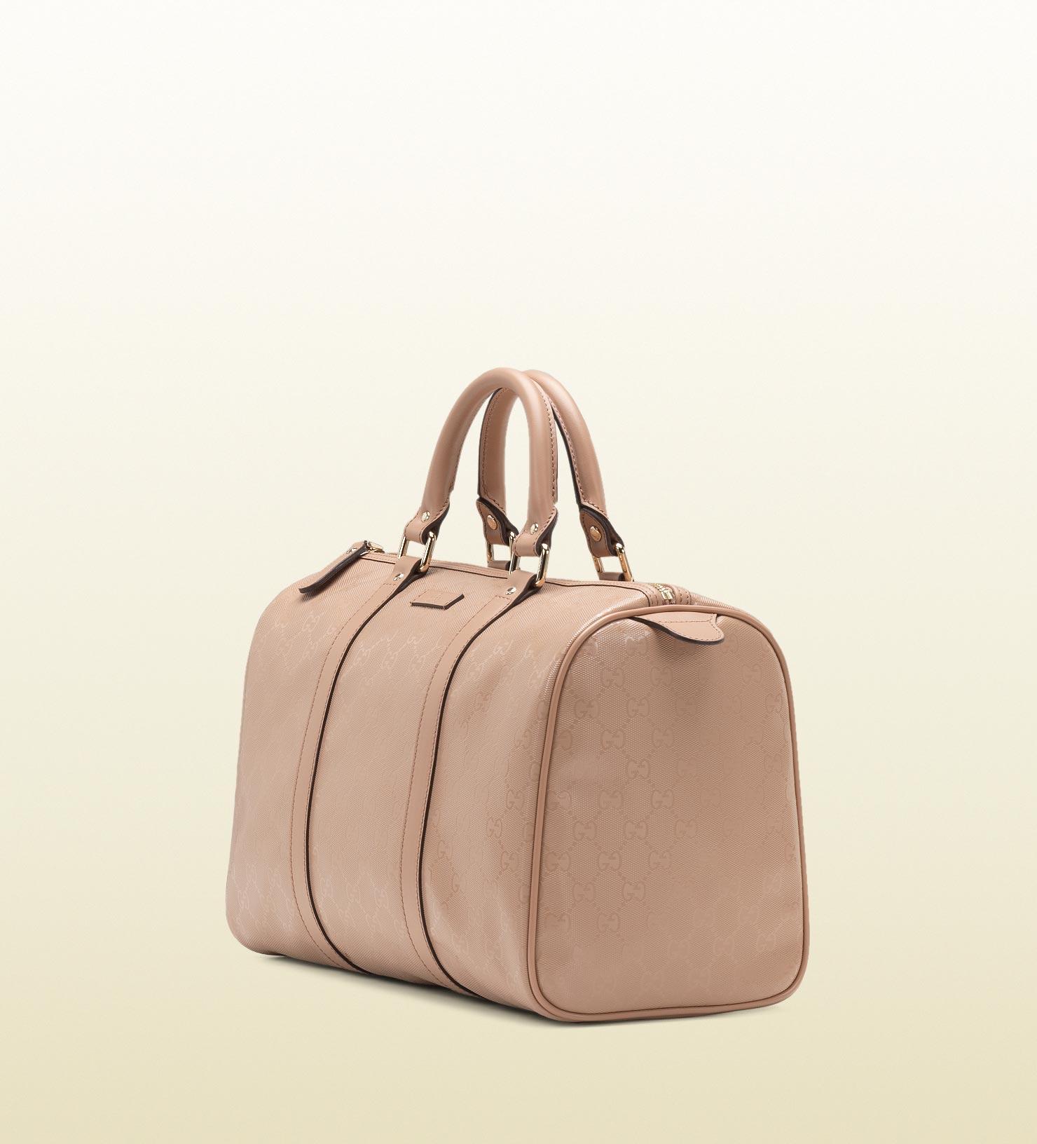 c86fc5f69cf Gucci Joy Leather Boston Bag in Pink - Lyst