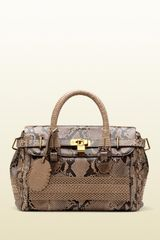 Gucci Handmade Medium Top Handle Bag with Woven Web Detail - Lyst
