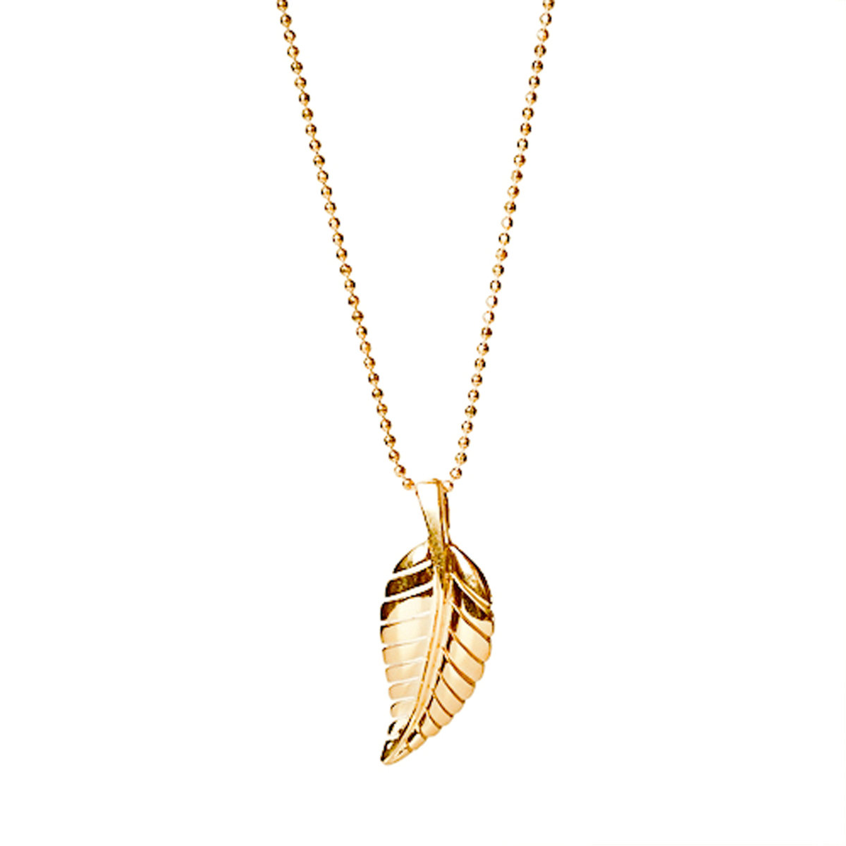 jennifer meyer leaf pendant necklace in metallic lyst