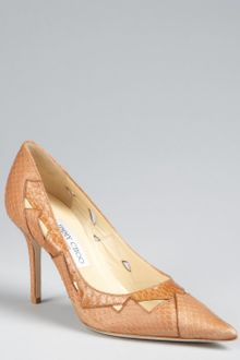 Jimmy Choo Snakeskin Harriet Pointed Toe Pumps - Lyst