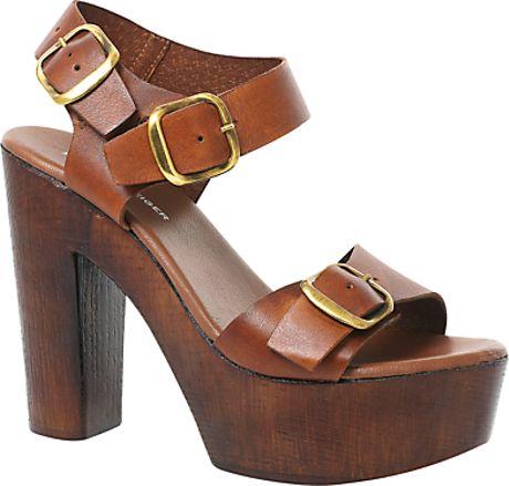 KG by Kurt Geiger Hazel High Platform Leather Sandals