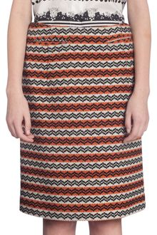 Marni Striped Pencil Skirt - Lyst