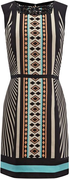 Oasis Tribal Embellished Shift in Multicolor (black) - Lyst