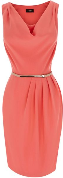Oasis Cowl Drape Dress - Lyst