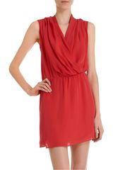Parker Draped Front Dress - Lyst