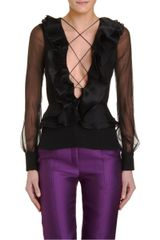 Prabal Gurung Ruffled Blouse - Lyst