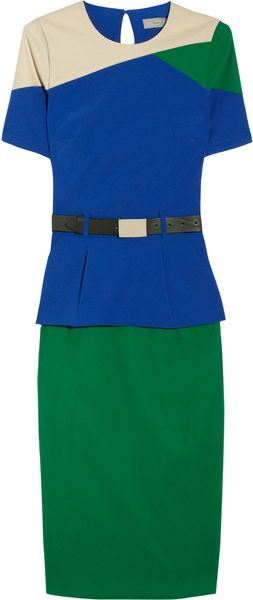 Preen Ren Belted Stretchcrepe Dress - Lyst