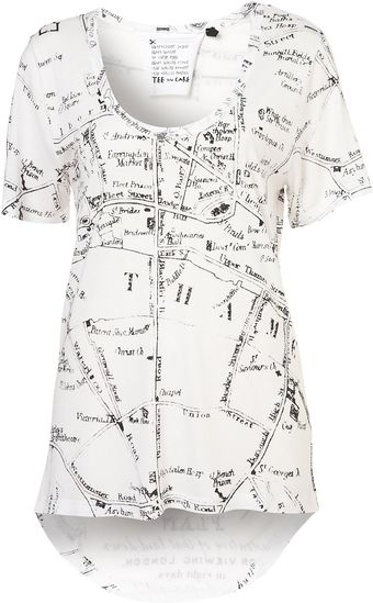 Topshop London Map Tee By Tee and Cake - Lyst