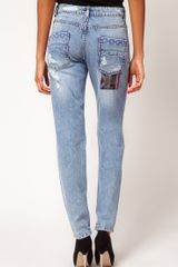 Asos Jean with Rocco Stitch in Blue - Lyst