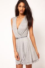 ASOS Collection Asos Skater Dress with Ballet Wrap and Belt - Lyst