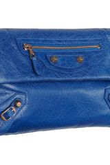 Balenciaga Arena Giant Rose Gold Envelope in Blue (rose) - Lyst