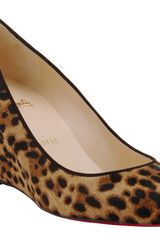 Christian Louboutin New Peanut in Brown (leopard) - Lyst