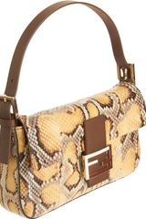 Fendi Painted Python Baguette Bag in Animal (gold) - Lyst