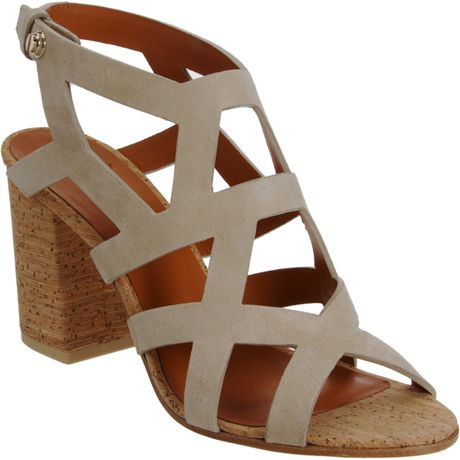 Givenchy Geometric Cutout Sandal in Brown (beige) - Lyst