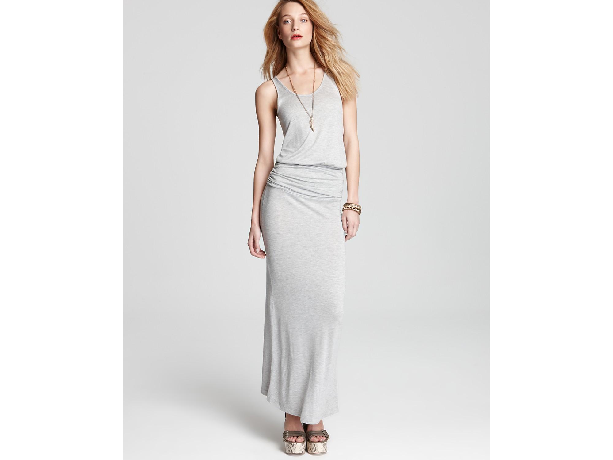Joie Soft Maxi Dress Wilcox Blouson In Gray Heather Grey