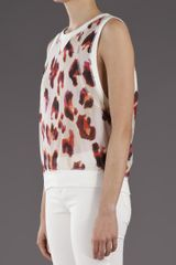 L.a.m.b. Sleeveless Leopard Top in Animal (leopard) - Lyst