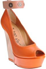 Lanvin Puzzle Wedge Pump - Lyst