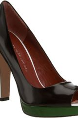 Marc By Marc Jacobs Colorblock Peep Toe Pump - Lyst