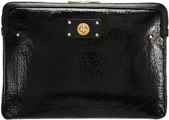 Marc By Marc Jacobs Patent Turnlock 13 Laptop Sleeve - Lyst
