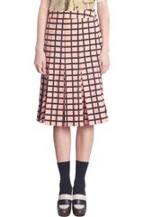 Marni Grid Check Skirt - Lyst