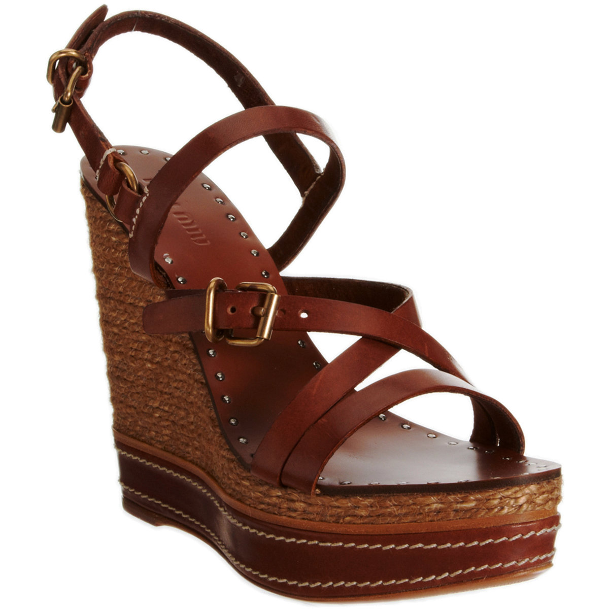 low price cheap price sale footlocker Miu Miu Leather Platform Wedges cheap real authentic 2015 cheap online OmWKlRe4F