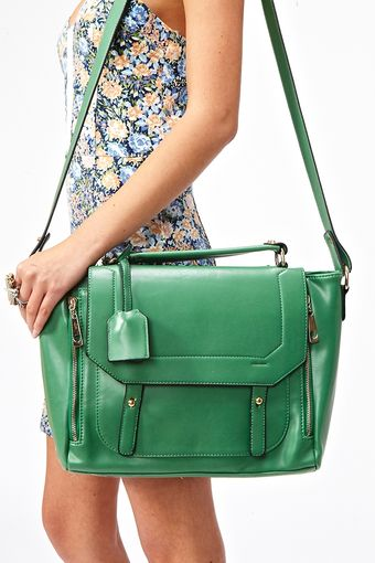 Nasty Gal Blair Messenger Bag Green - Lyst
