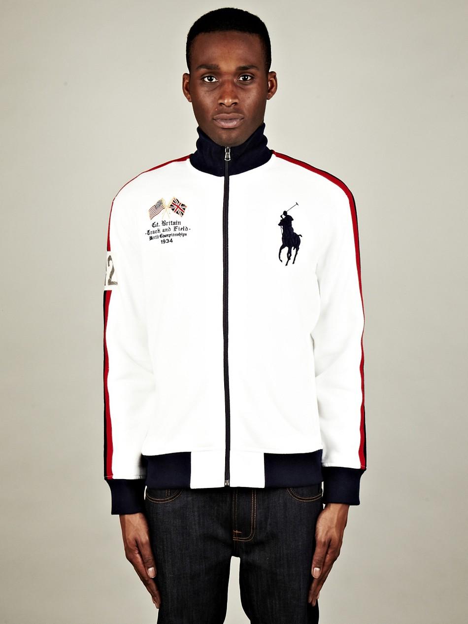 ... Polo Ralph Lauren Fleece Zip Track Jacket Great Britain ...