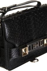 Proenza Schouler Ps11 Clutch Python in Black (gold) - Lyst