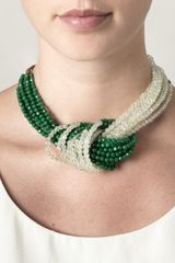 Rosantica Anitgona Jade and Agate Necklace - Lyst