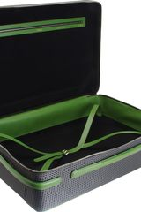 Valextra Medium Suitcase With Pirelli Wheels in Black (green) - Lyst