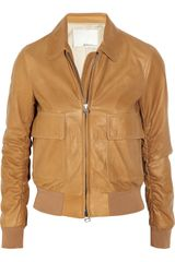 3.1 Phillip Lim Knittrimmed Leather Jacket - Lyst
