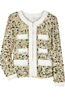 3.1 Phillip Lim Sequined Silk Jacket - Lyst