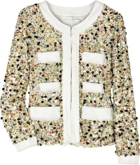 3.1 Phillip Lim Sequined Silk Jacket in Beige (cream) - Lyst