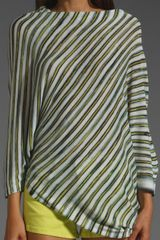 Bcbgmaxazria Asymmetrical Striped Blouse in Multicolor (lime multi) - Lyst