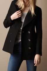 Burberry Brit Classic Wool Pea Coat - Lyst
