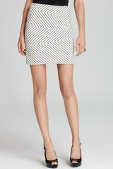 Cynthia Steffe Skirt Lucinda Stripe Pencil Ponte in Beige (light cream) - Lyst
