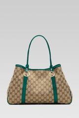 Gucci Gg Twins Medium Tote with Interlocking G Details - Lyst