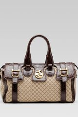 Gucci Gucci Medium Boston Bag With Double G Detail - Lyst