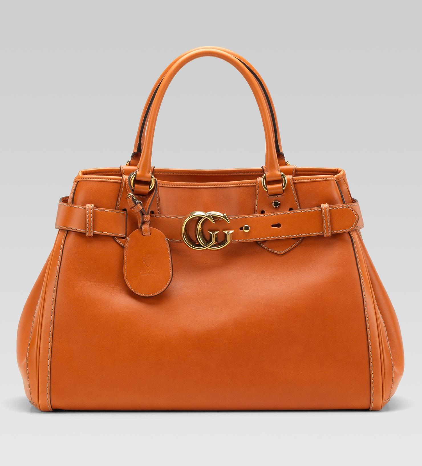 08e8bbab67fe Gucci Gg Running Large Tote with Double G Detail in Orange - Lyst