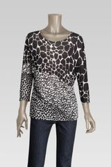 Gucci Three Quarter Sleeve Kimono Tshirt with Decoratif Print - Lyst